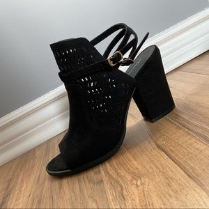 WELDON CAGED BLOCK HEEL SANDAL